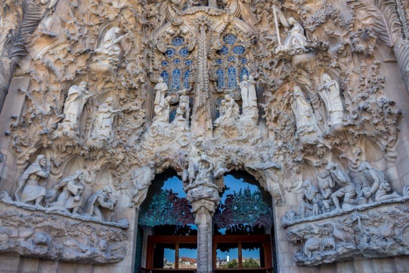Exterior de la Sagrada Familia:la fachada del Nacimiento