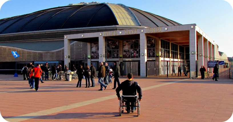 Access to Palau Sant Jordi in Barcelona for disabled visitors