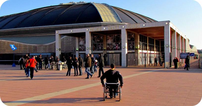 Palau Sant Jordi Zugang für Rollstuhlfahrer