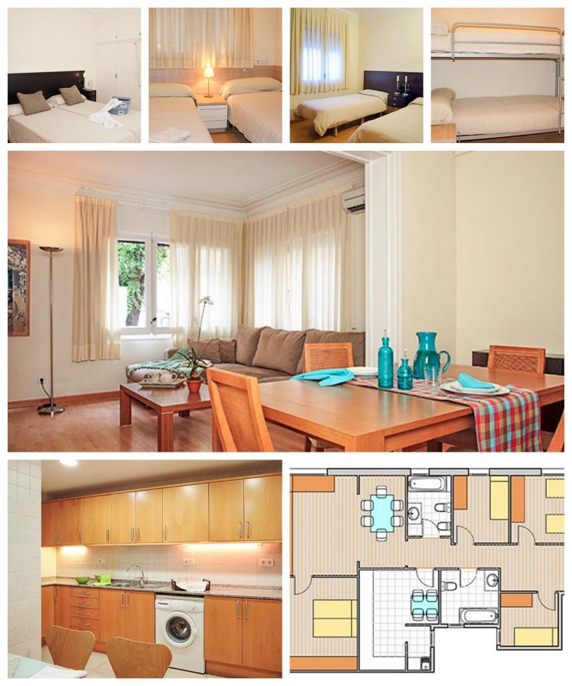 Accogliente appartamento con 4 stanze vicino al Parque Güell