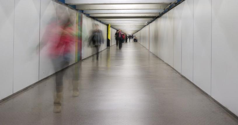 Passeig de Gracia hallway to change lines