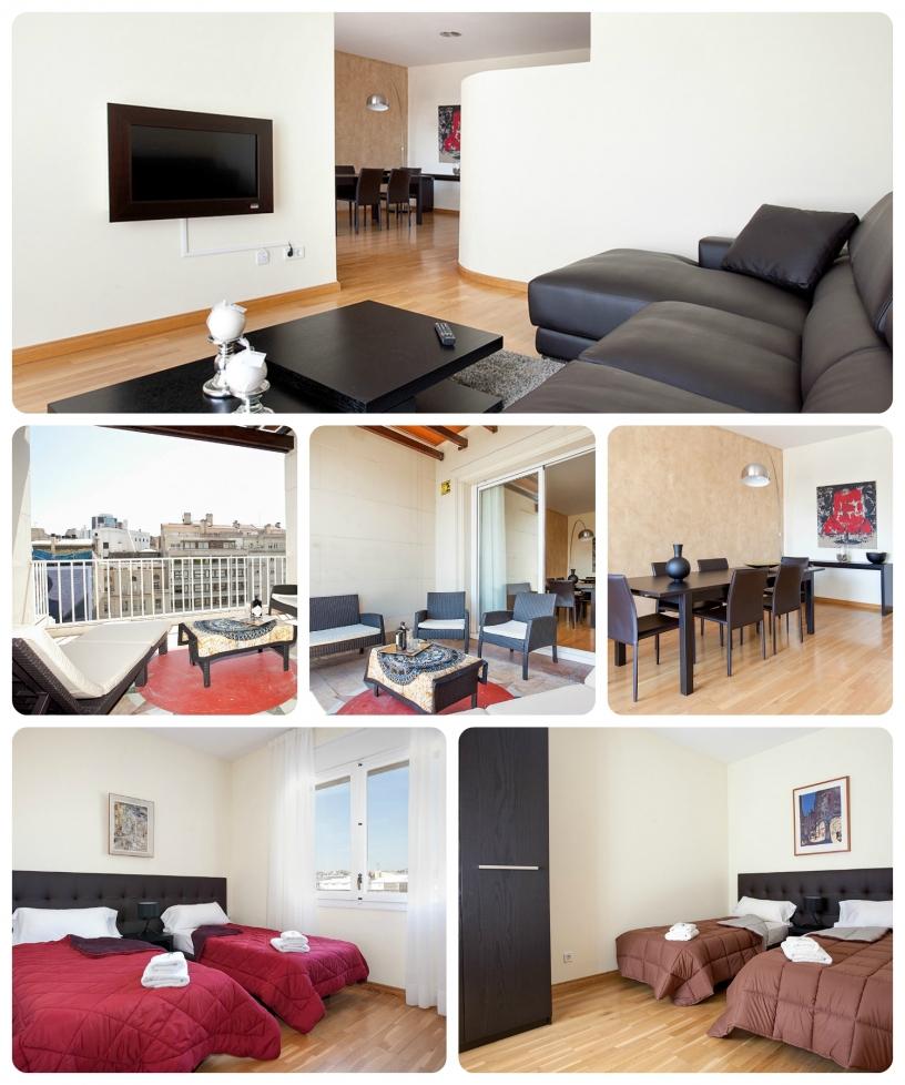 Elegante appartamento con terrazza coperta.
