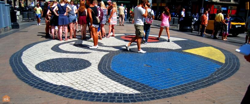 Mosaico Miró en las Ramblas