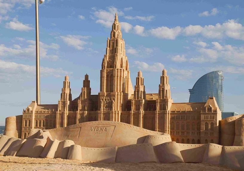 Sand skulpturer i Barceloneta