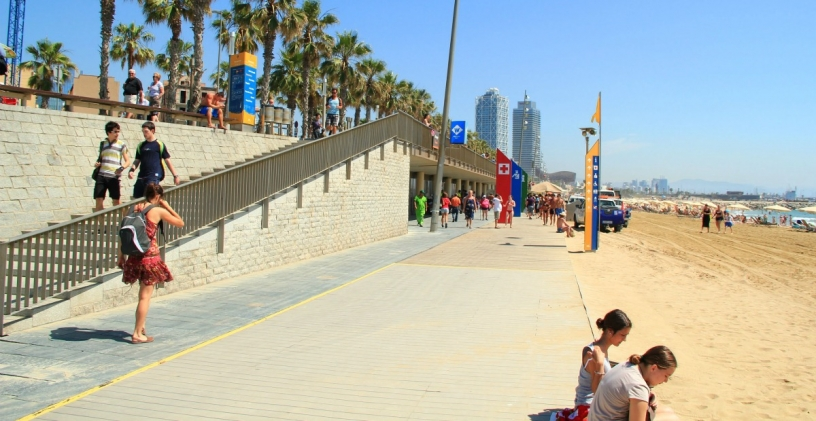 Пляж Мар Белла Барселона