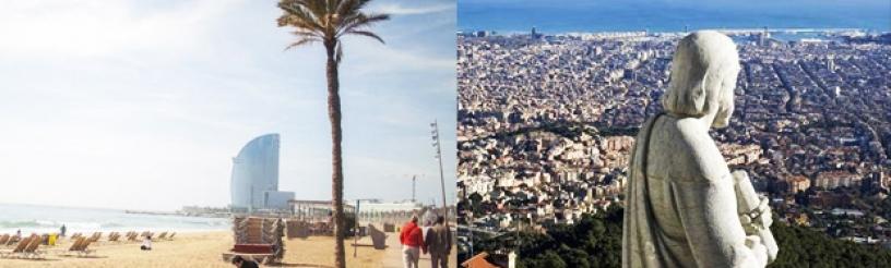Barcelona hat sowohl berge als auch Strände