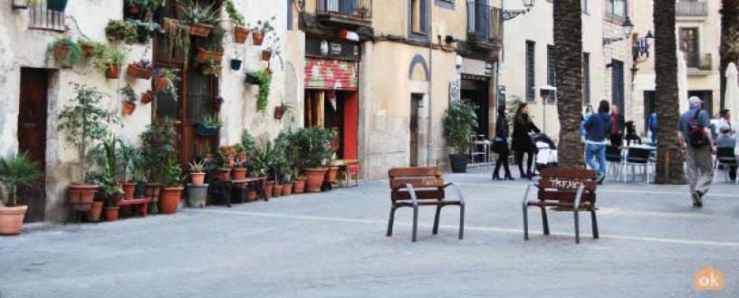 Klein Platz in der Born Barcelona