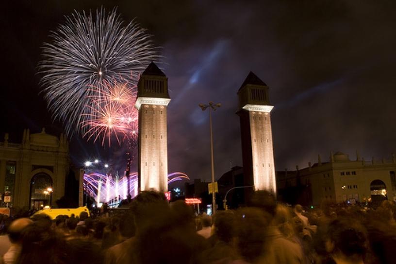 Plaza España nytårsaften