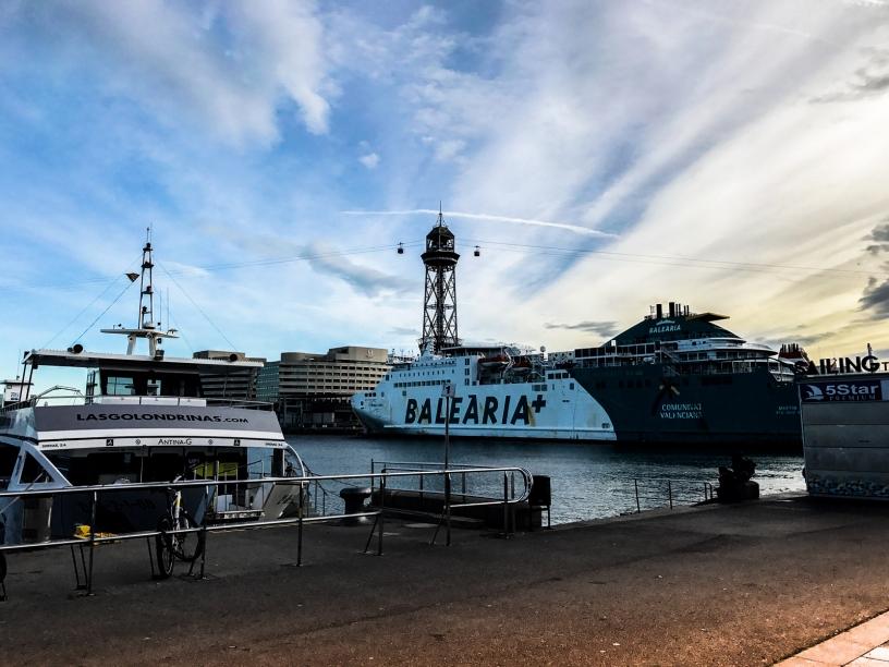 balaearia cruiseship Barcelona