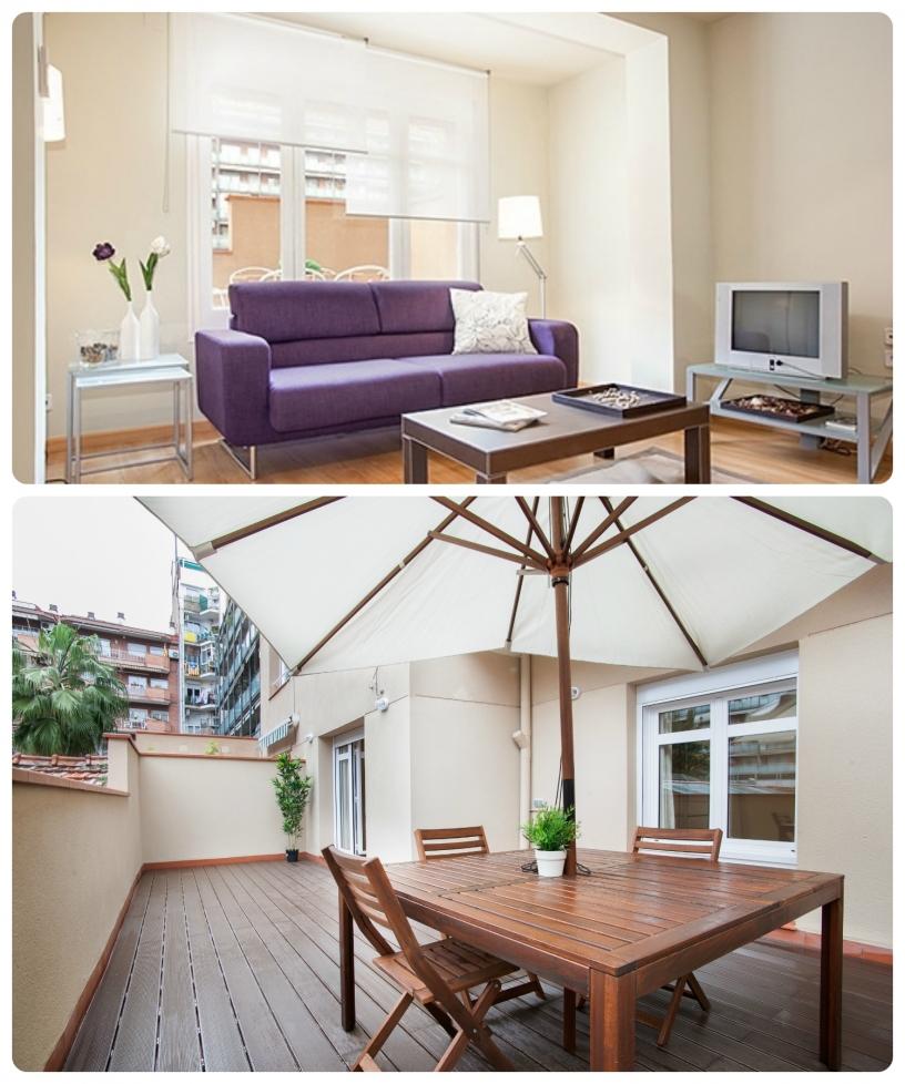 L'alloggio Provença Cartagenta 6 ha una fantastica terrazza in legno