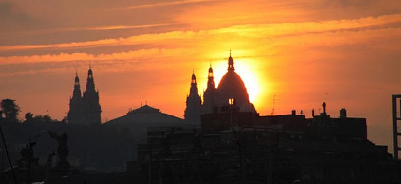barcellona tramonto sole