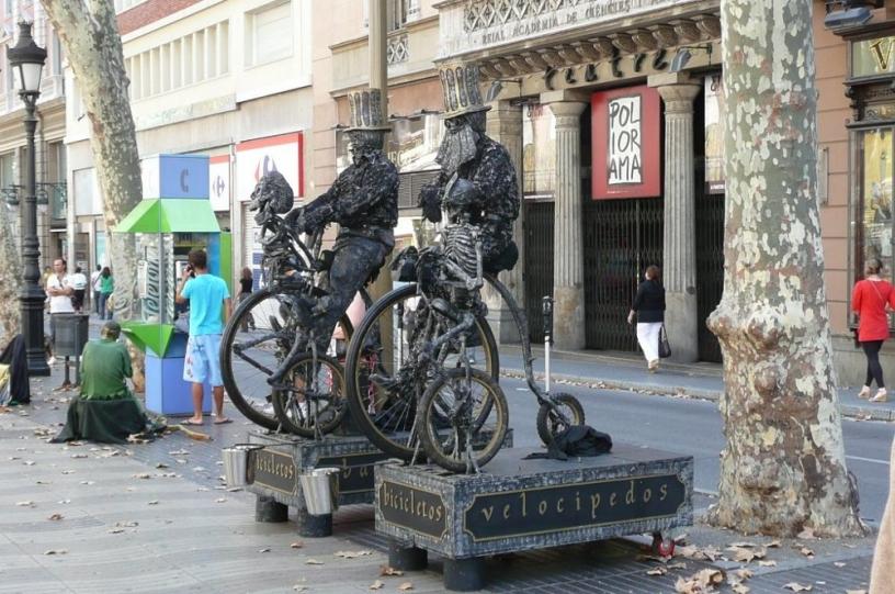 Ramblas Human Statue
