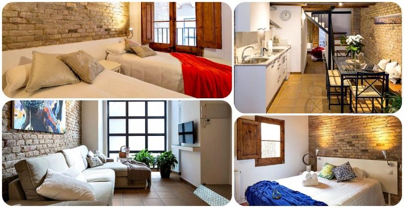 Olika lägenheter nära World Trade Centre Barcelona för grupper av arbetstagare