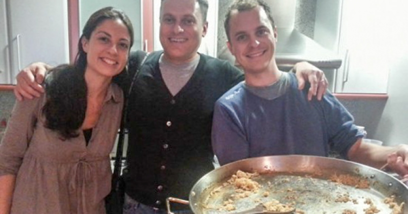Rob Dobson a Spanish Paella with friends