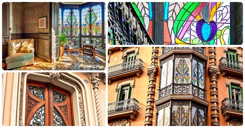 Modernistische Wohnung Lluria Passeig Gracia in Barcelona