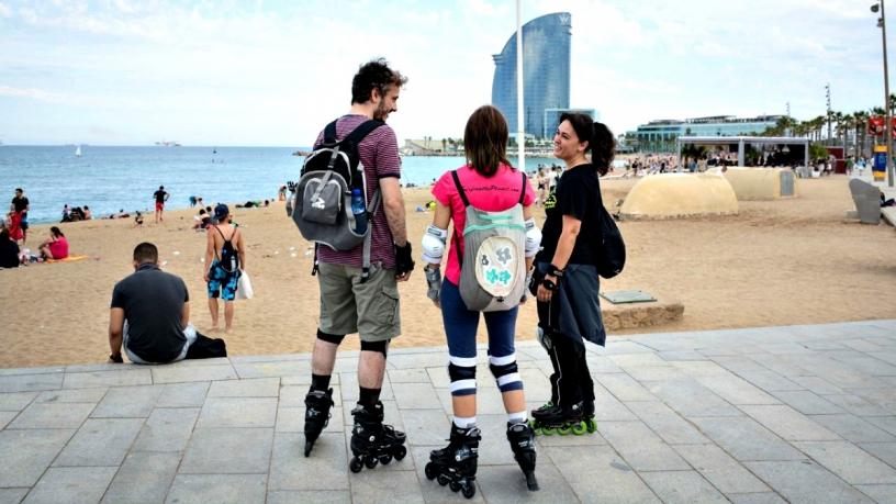 Rollschuhfahren in Barcelona