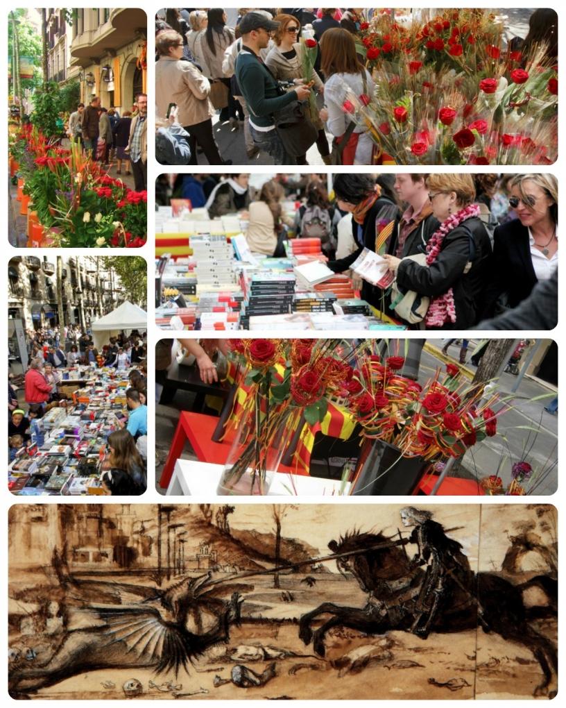 La journée de Sant Jordi à Barcelone