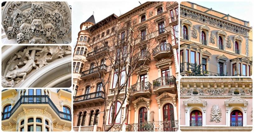 Dos edificios modernistas en Barcelona