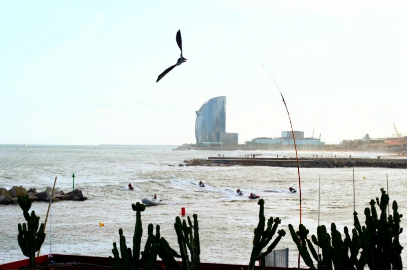Jetty at barceloneta