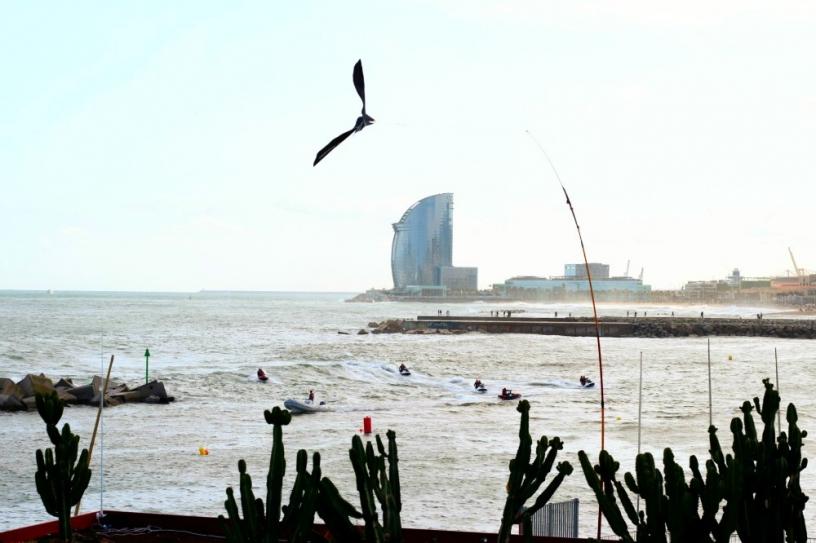 La jetée de la Barceloneta