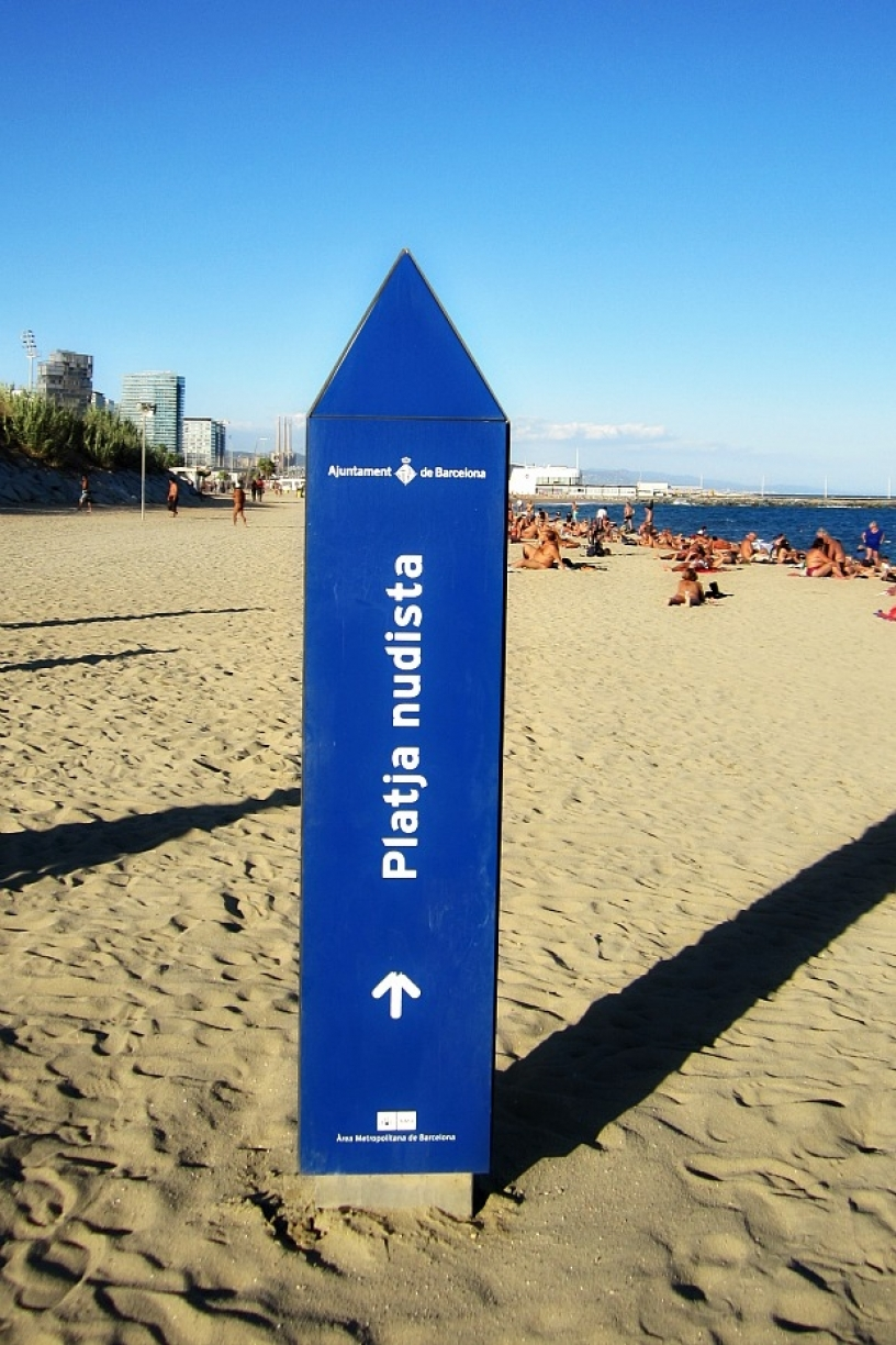 Nudist beach Barcelona