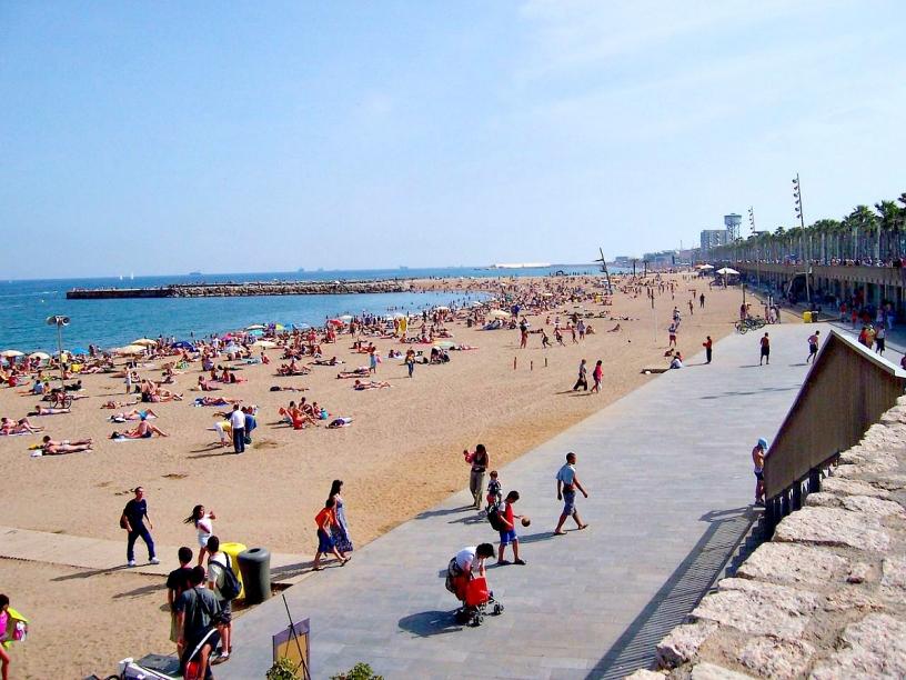 Spiaggia vicino al centro di Barcellona