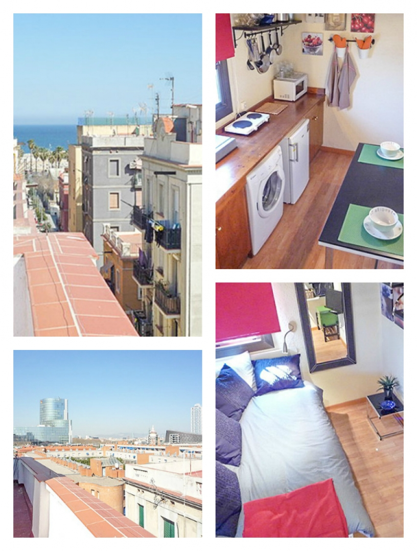 Student flat in Barcleona Andrea Beach 5A