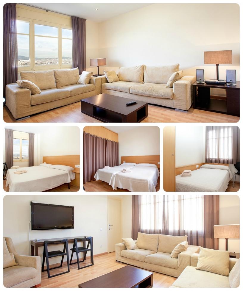L' appartamento Taulet Montjuic di Barcellona è ideale per famiglie che desiderano stare vicino alla montagna del Montjuic.