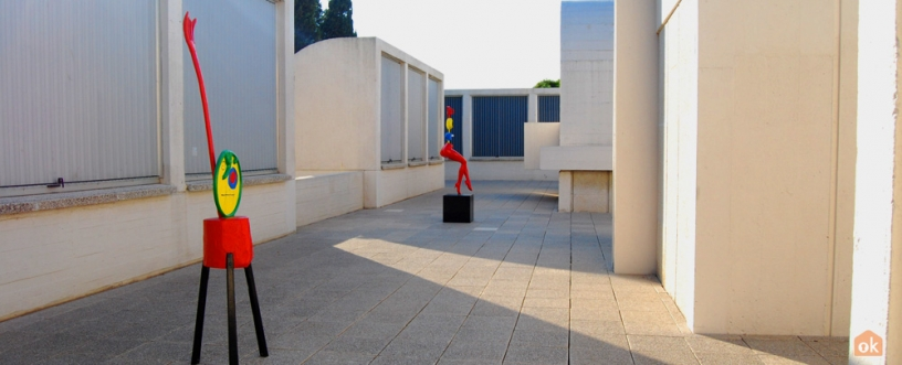 Sculptures de Miró à la Fondation