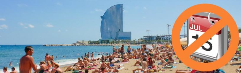 Reserva tu viaje a Barcelona lejos del verano