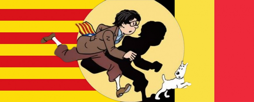 Puigdemont fleeing