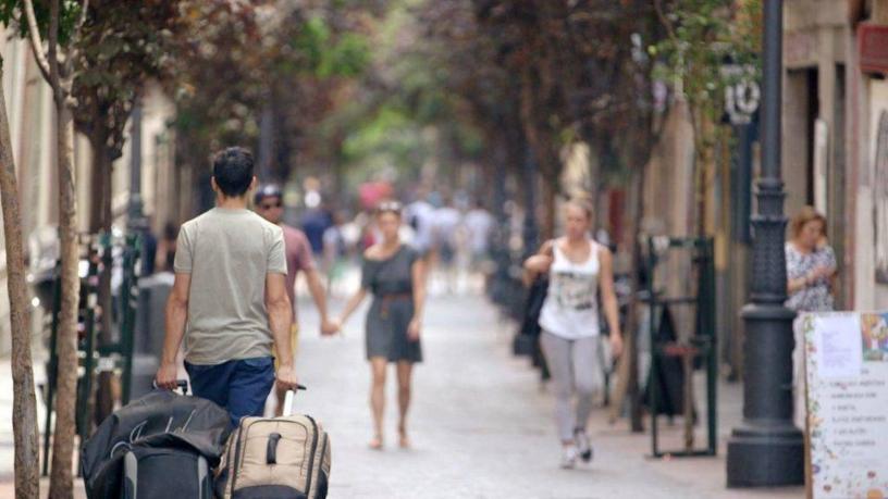 Touriste à Barcelone