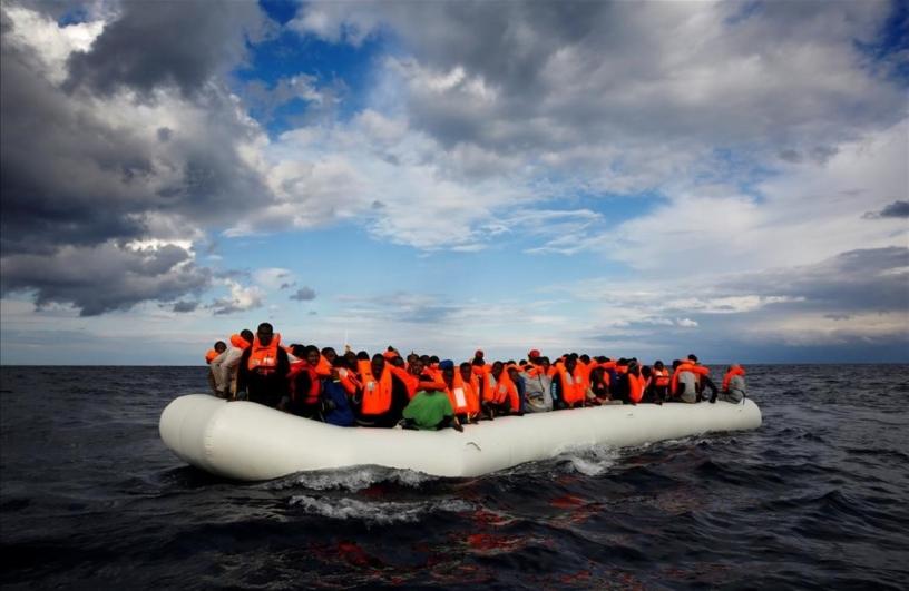 Réfugiés dans la mer