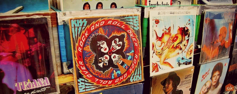 Rock Vinyls in Barcelona's Lost and Found Market