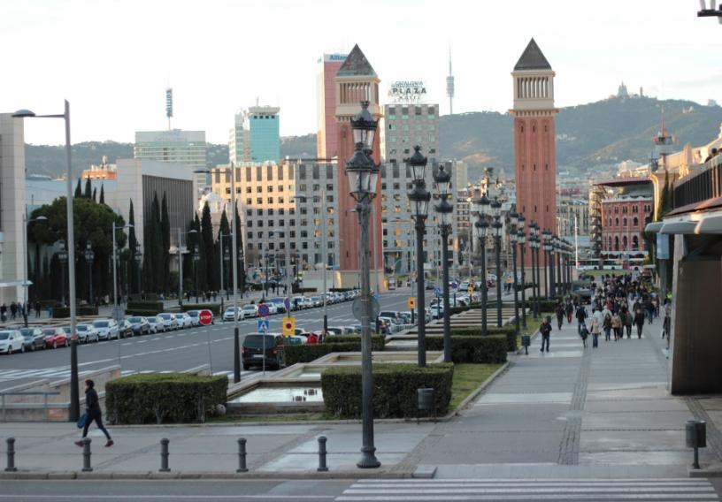 Walk to Montjuïc Barcelona