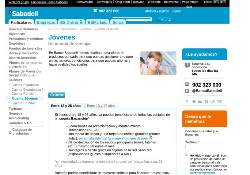 Web Banco Sabadell