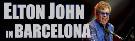 Elton John w Palau Sant Jordi w Barcelonie