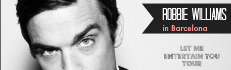 Robbie Williams live im Palau Sant Jordi