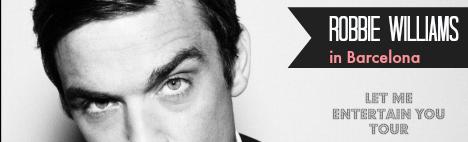 Robbie Williams live at Palau Sant Jordi