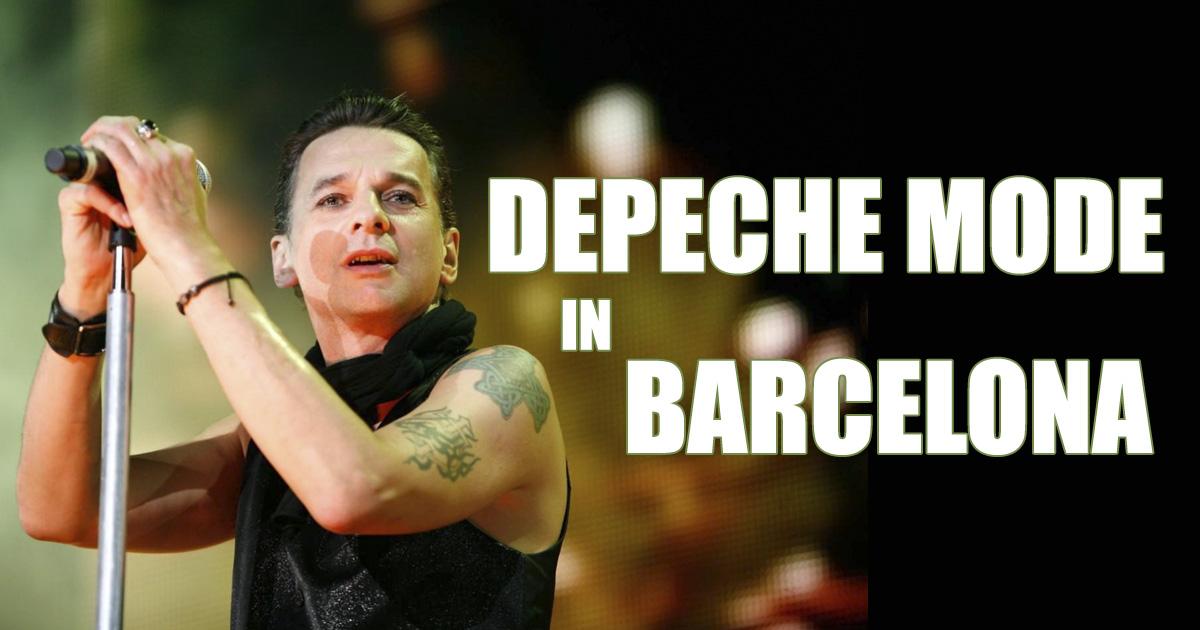 Depeche Mode en concert à Barcelone