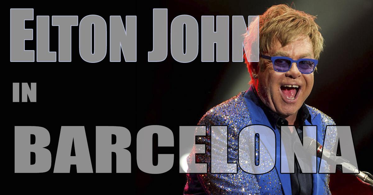Elton John concert at Palau Sant Jordi