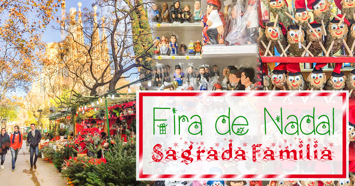 Le marché de Noël de la Sagrada Família