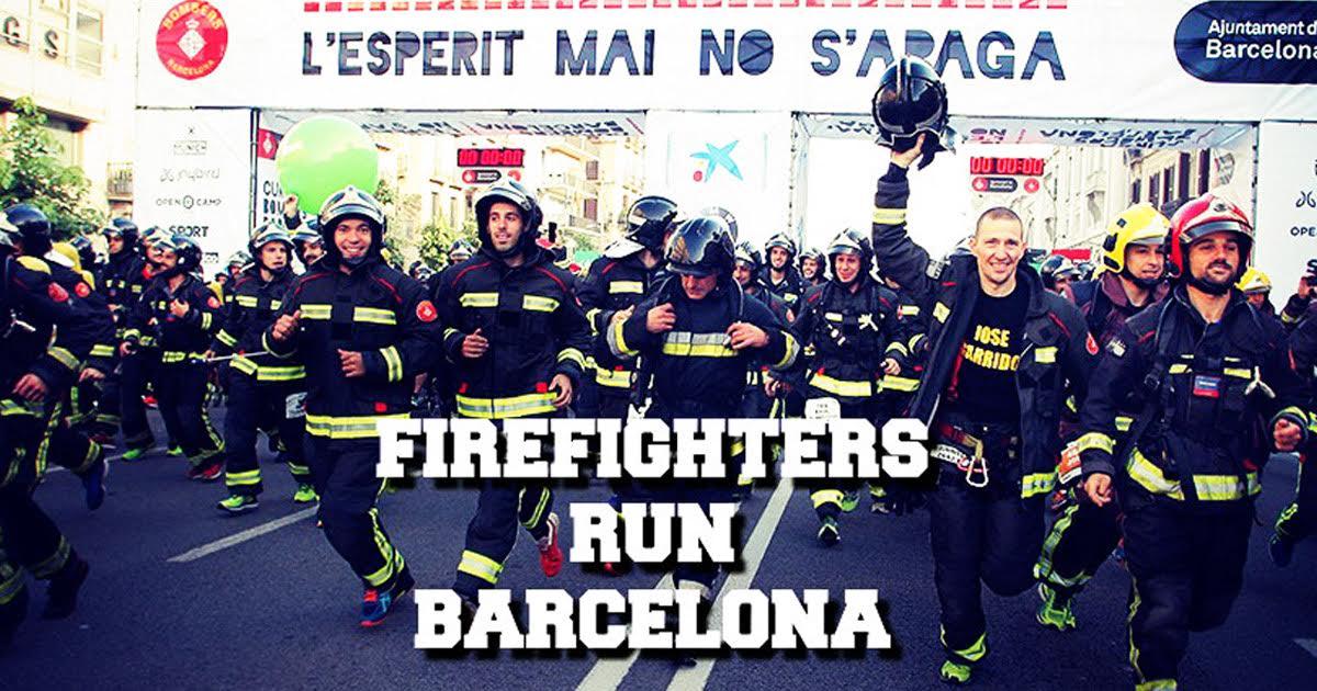 La corsa dei pompieri di Barcellona