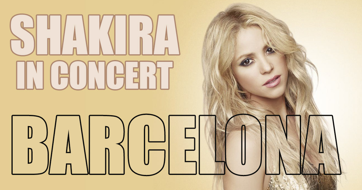 Shakira en concierto en Barcelona
