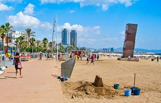 Stranden Barceloneta ☀