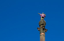 Staty av Christopher Columbus - Cristóbal Colón