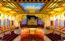 Palau de la Música, musik auditorium i Barcelona