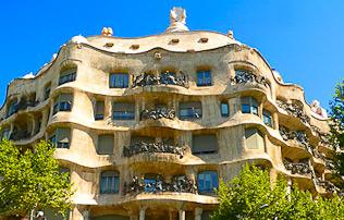 Casa Milà eller La Pedrera-Stenbrott