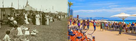 Die Barceloneta Heutzutage und Vorhin