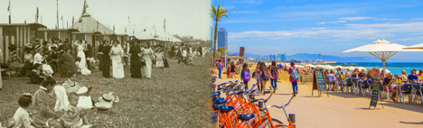 La Barceloneta Avant et Après